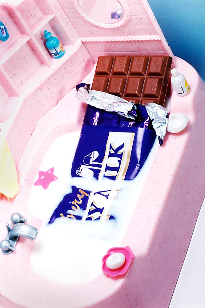 Still life photography, Chocolate in the bath